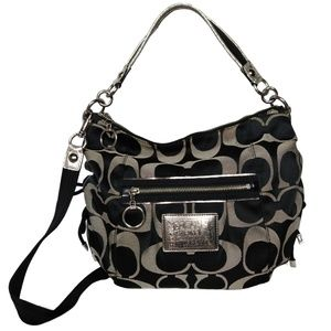 Coach Poppy Jazzy Sateen Signature Hobo